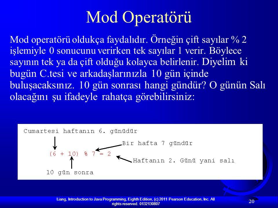 Mod Operatörü