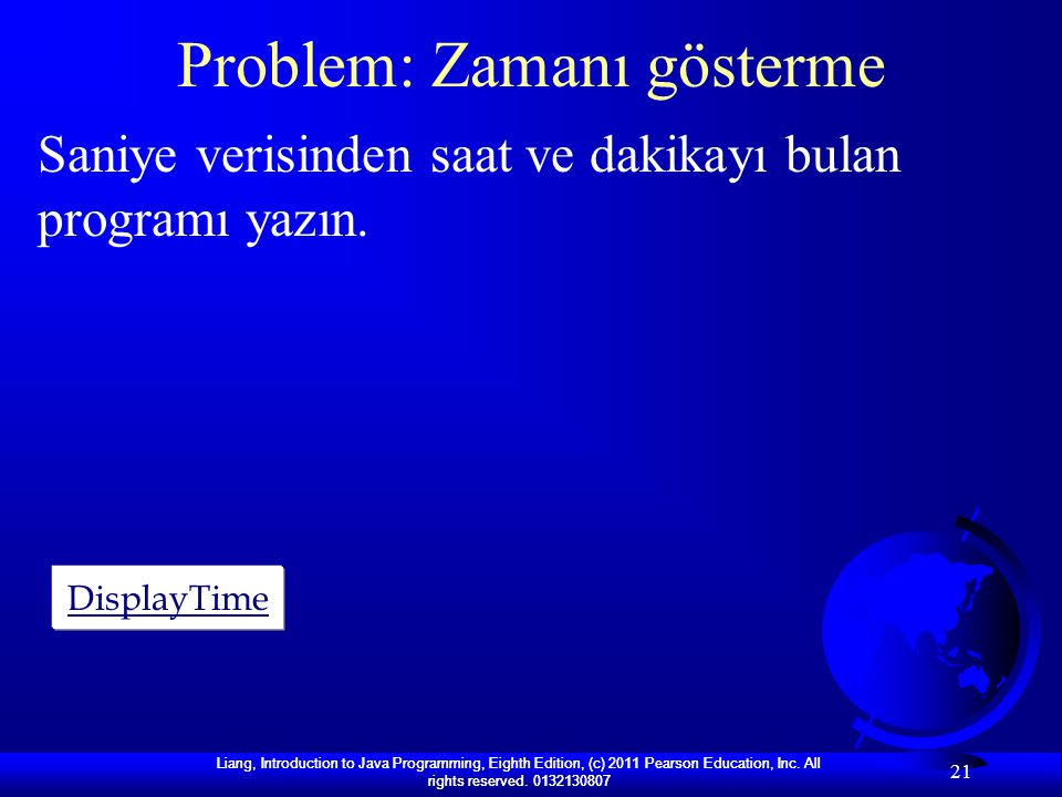 Problem: Zamanı gösterme