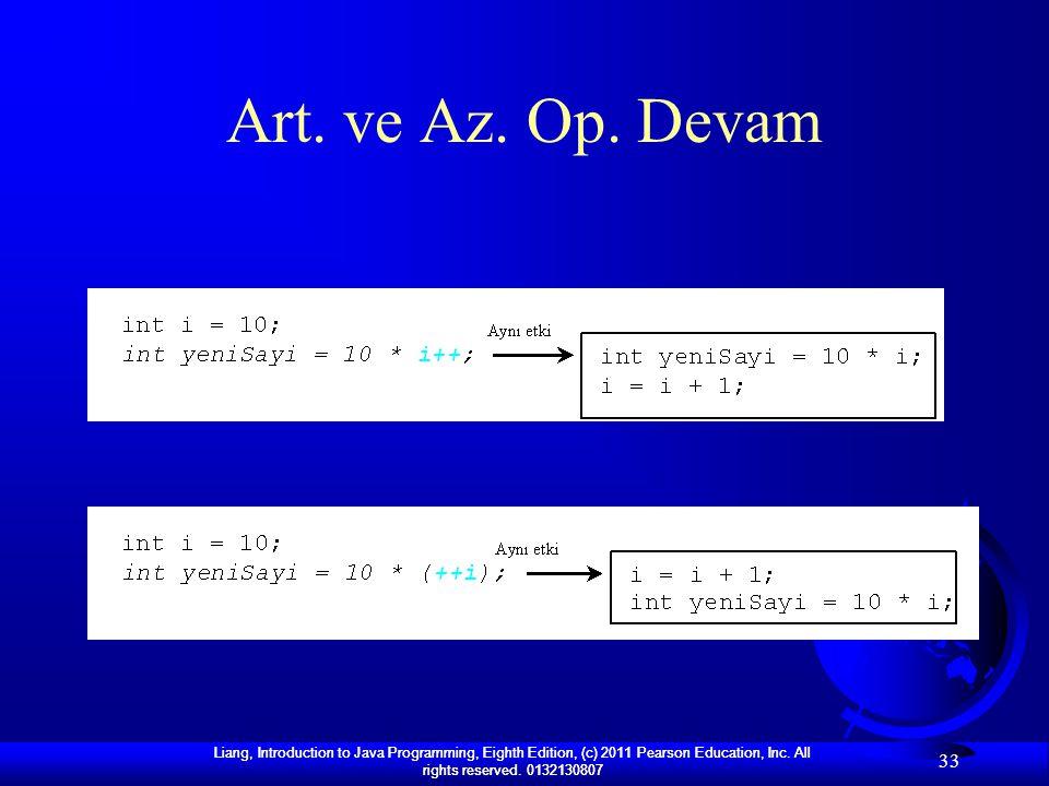 Art. ve Az. Op. Devam