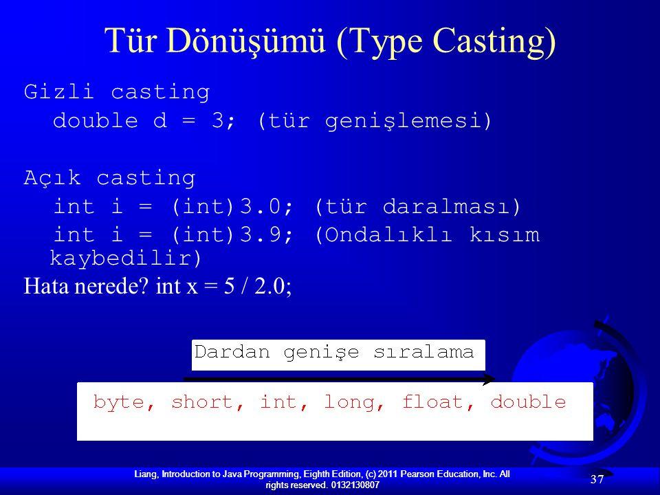 Tür Dönüşümü (Type Casting)