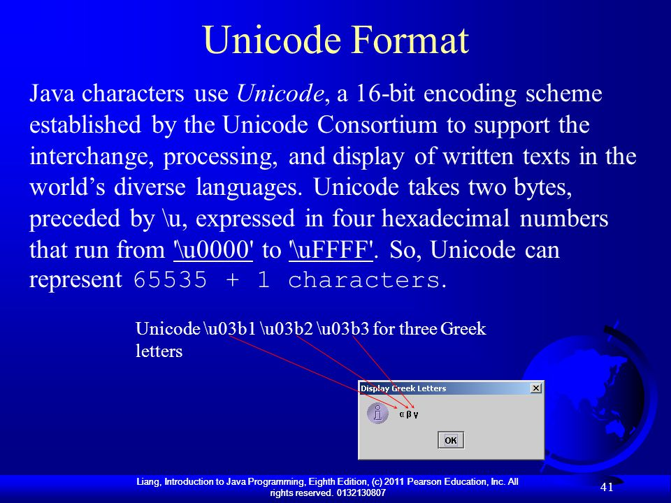 how to put unicode characters in java