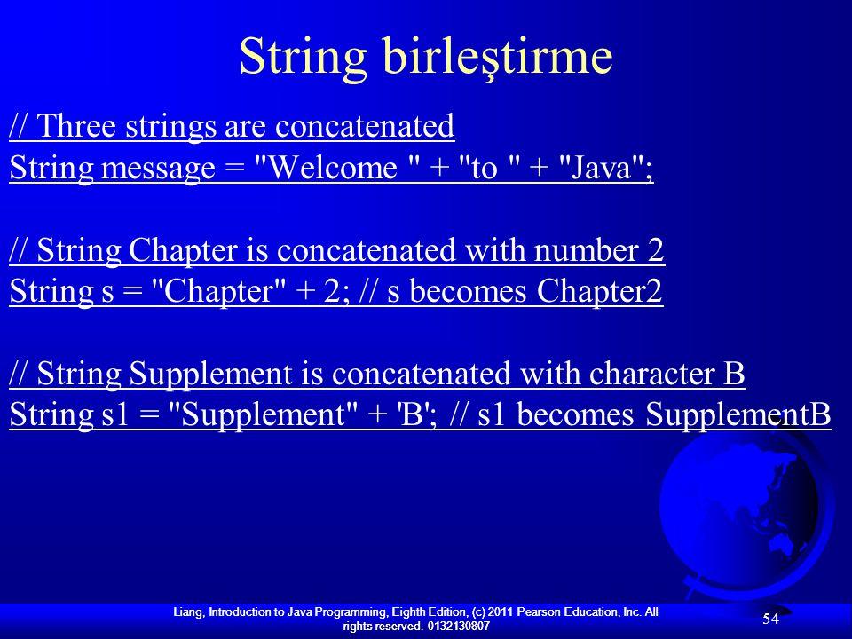 String birleştirme // Three strings are concatenated