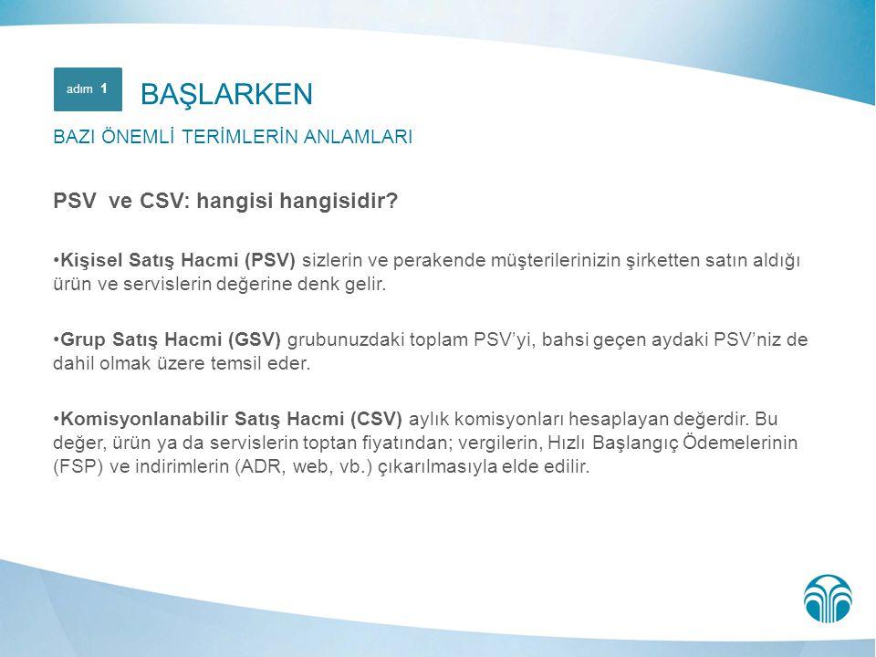 BAŞLARKEN PSV ve CSV: hangisi hangisidir