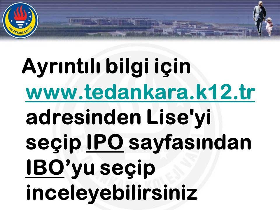 Ayrıntılı bilgi için www. tedankara. k12