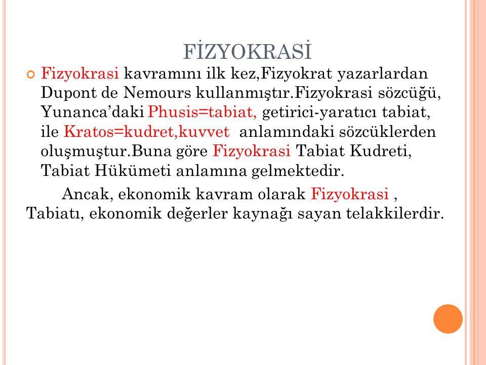 FİZYOKRASİ