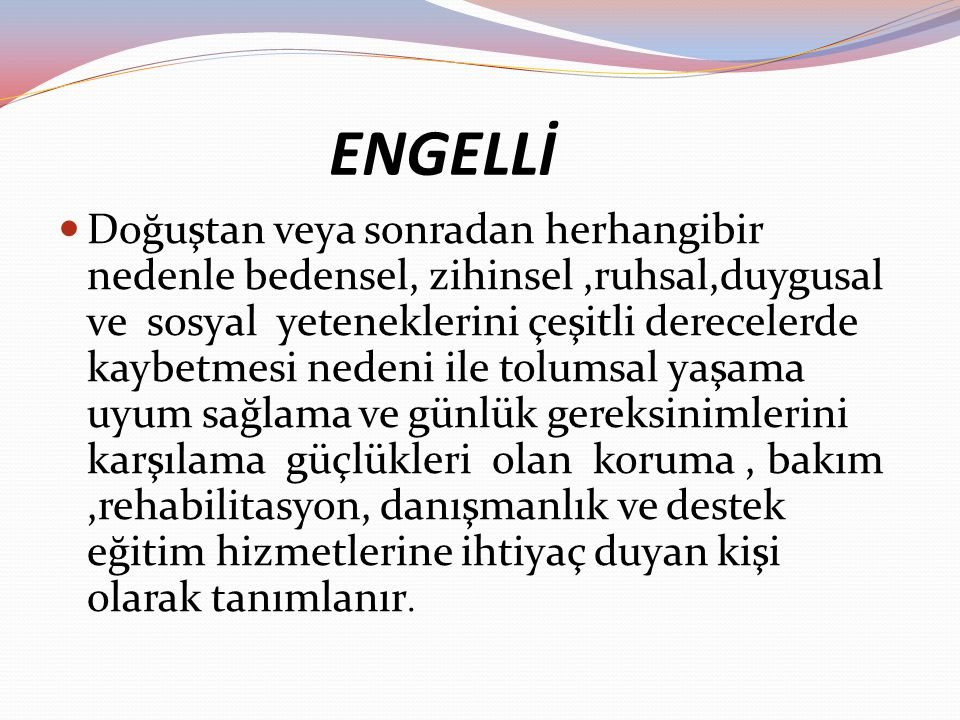 ENGELLİ
