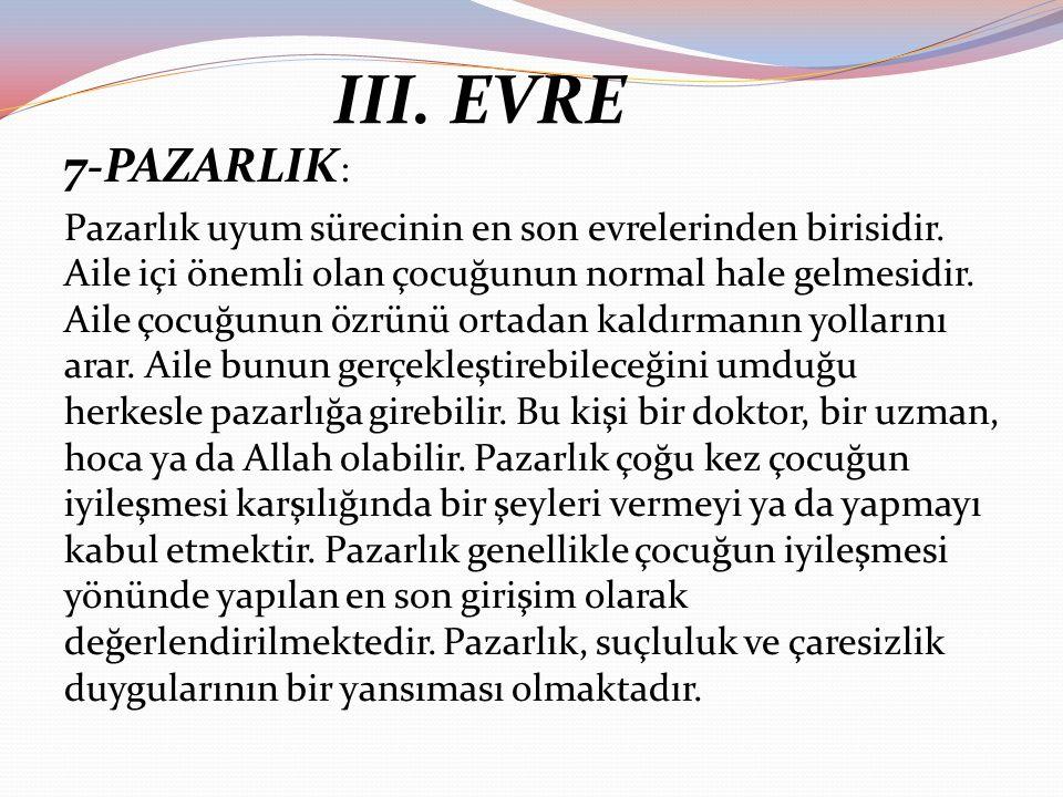 III. EVRE 7-PAZARLIK: