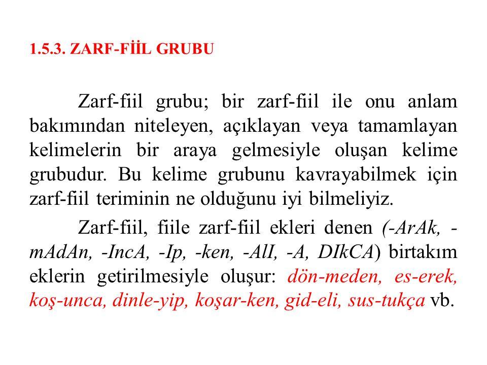 1.5.3. ZARF-FİİL GRUBU