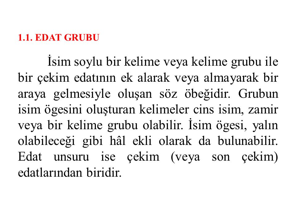 1.1. EDAT GRUBU