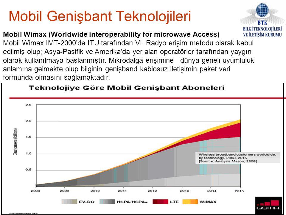 Mobil Genişbant Teknolojileri