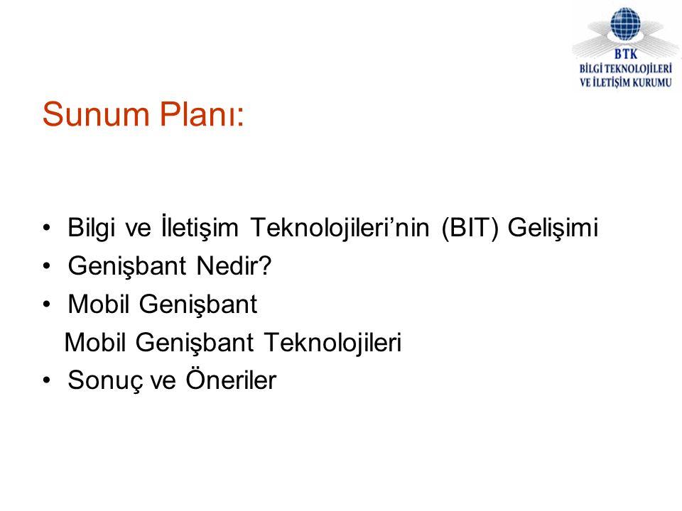 Sunum Planı: Bilgi ve İletişim Teknolojileri'nin (BIT) Gelişimi