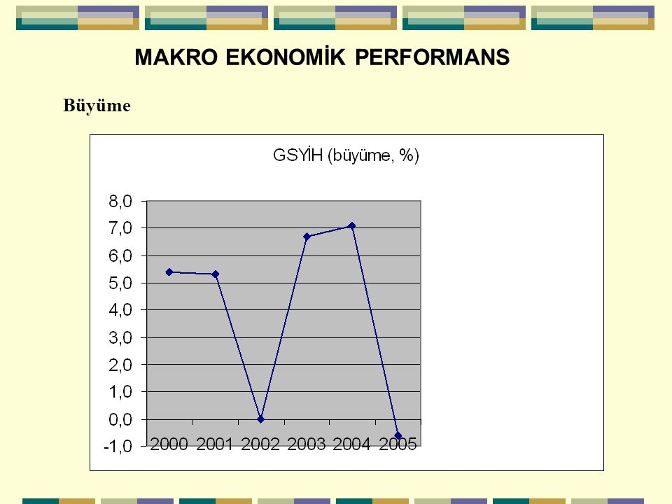 MAKRO EKONOMİK PERFORMANS