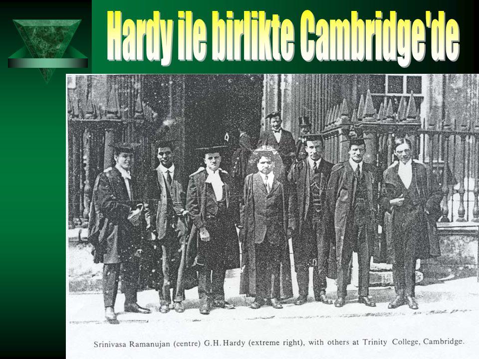 Hardy ile birlikte Cambridge de