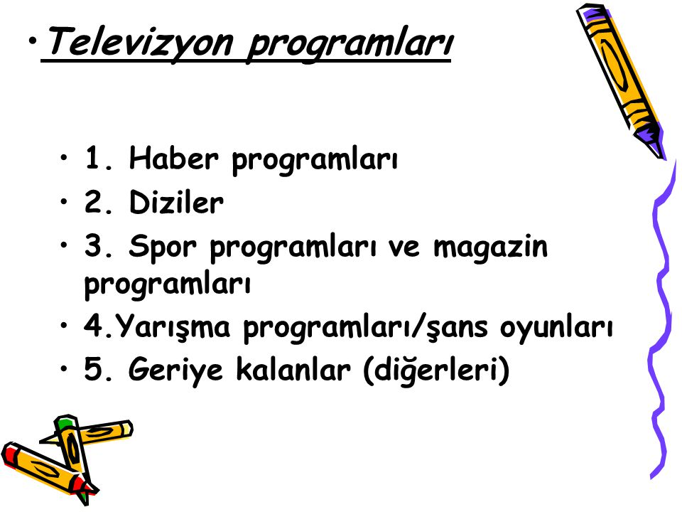Televizyon programları