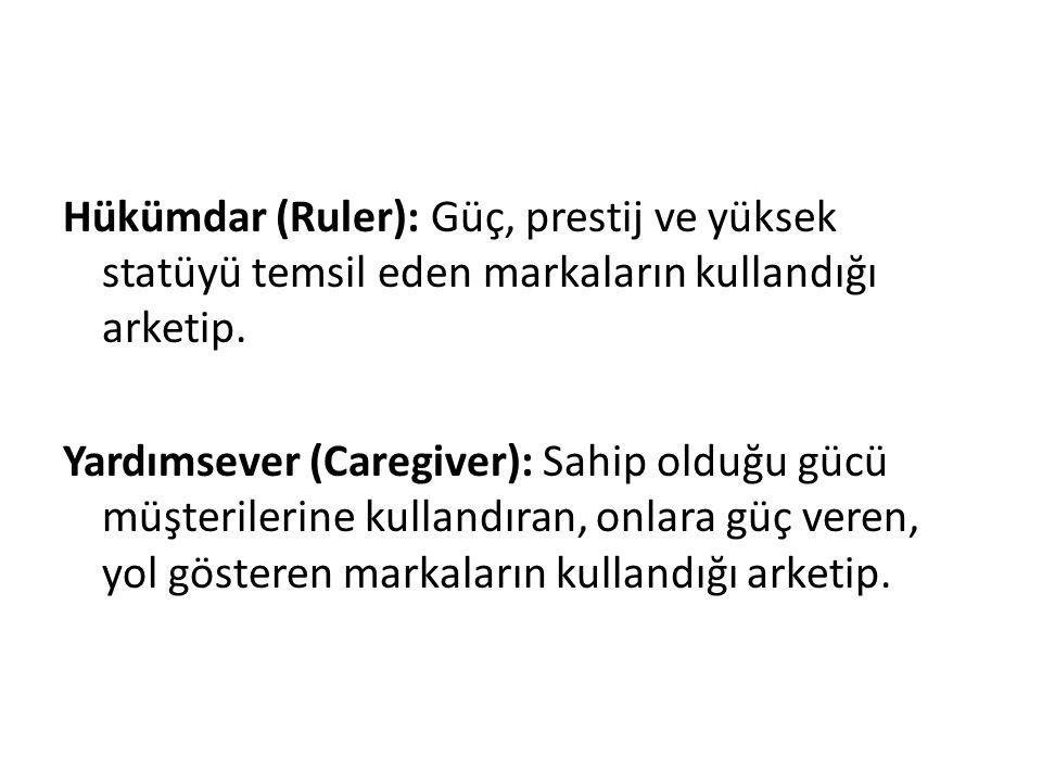 Hükümdar (Ruler): Güç, prestij ve yüksek statüyü temsil eden markaların kullandığı arketip.