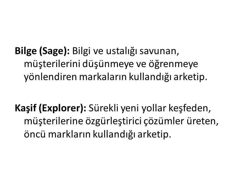 Bilge (Sage): Bilgi ve ustalığı savunan, müşterilerini düşünmeye ve öğrenmeye yönlendiren markaların kullandığı arketip.