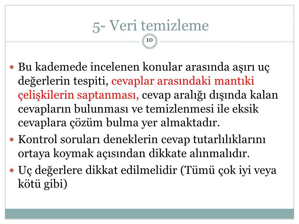 5- Veri temizleme Doç. Dr. Alper AYTEKİN. 10.