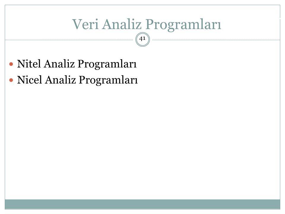 Veri Analiz Programları