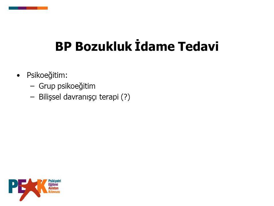 BP Bozukluk İdame Tedavi