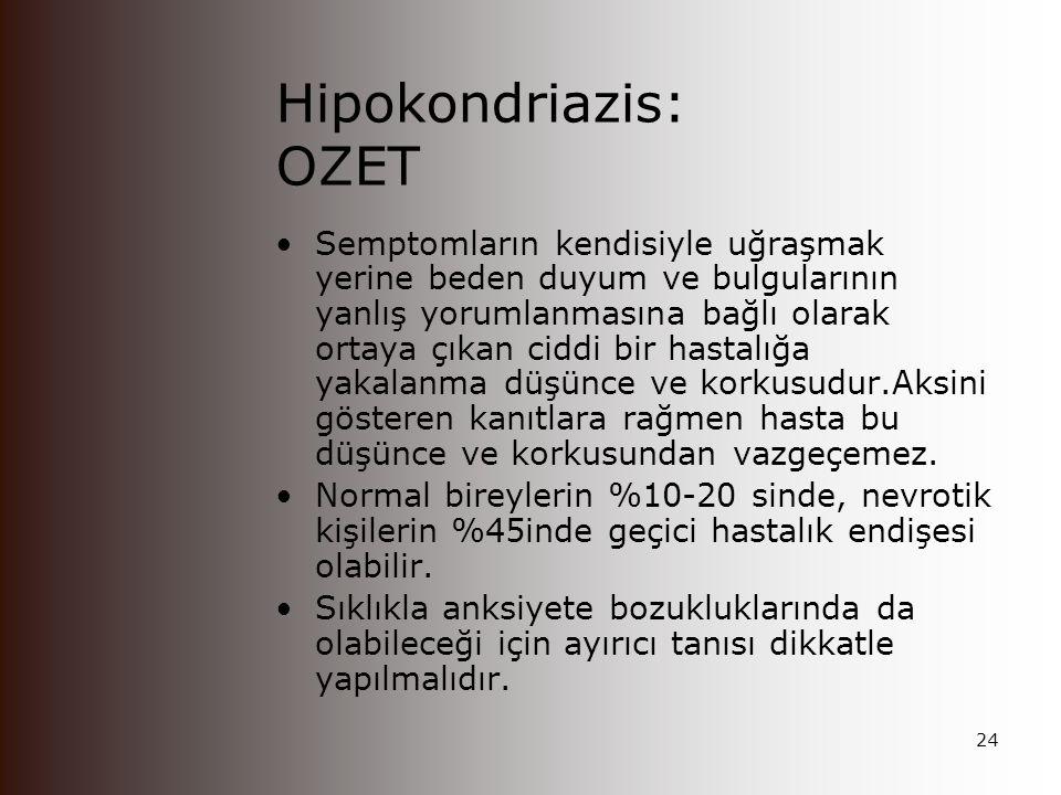 Hipokondriazis: OZET