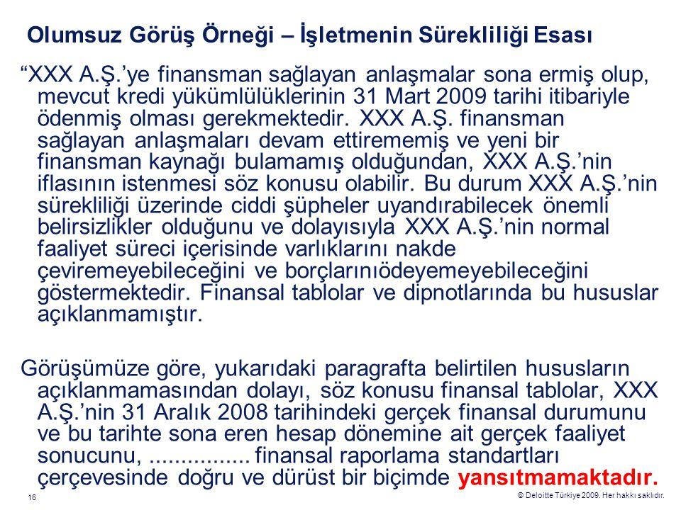 Finansal Raporlama Standartları UFRS/TFRS Genel İlkeler