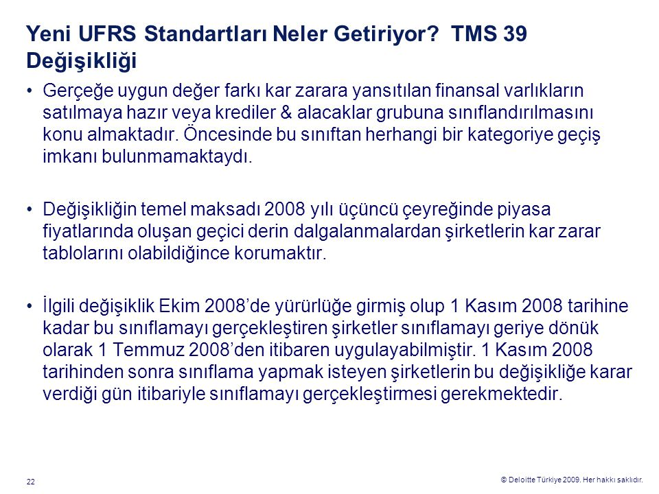 TMS 23 Borçlanma Maliyetleri Değişiklik
