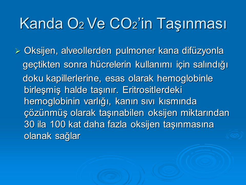 Kanda O2 Ve CO2'in Taşınması