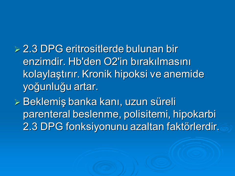 2. 3 DPG eritrositlerde bulunan bir enzimdir