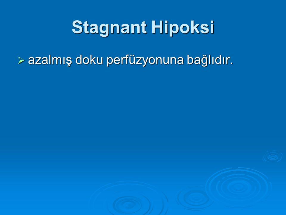 Stagnant Hipoksi azalmış doku perfüzyonuna bağlıdır.