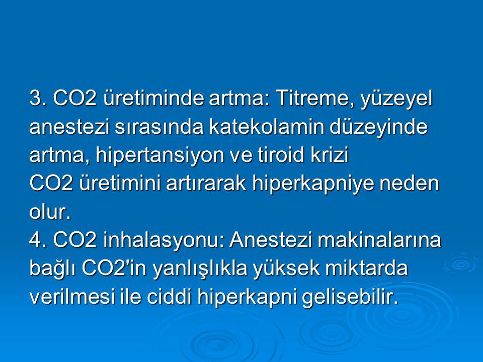3. CO2 üretiminde artma: Titreme, yüzeyel