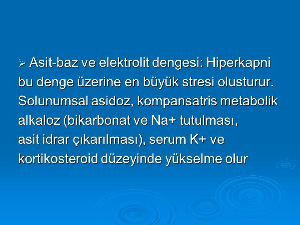 Asit-baz ve elektrolit dengesi: Hiperkapni