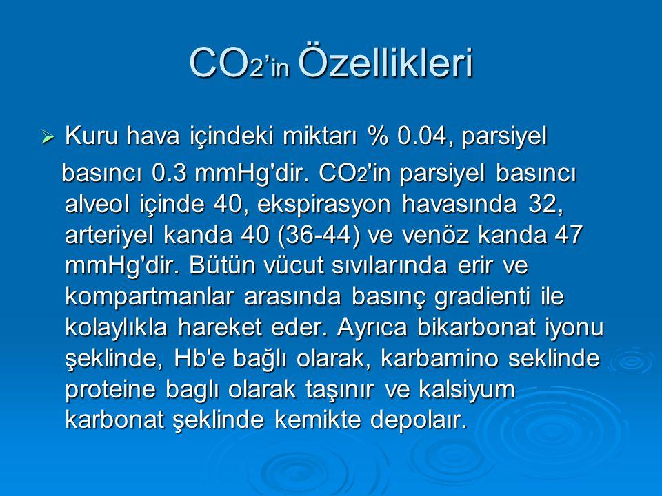 CO2'in Özellikleri Kuru hava içindeki miktarı % 0.04, parsiyel