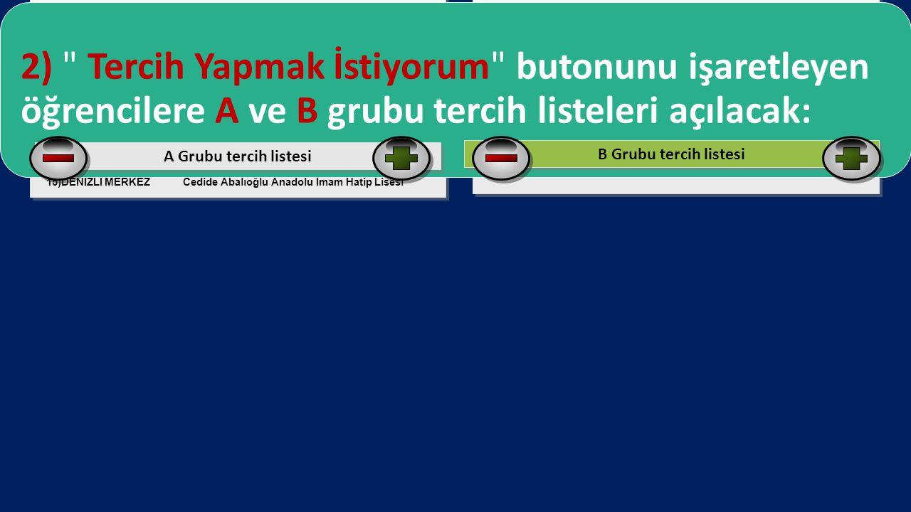 Fen Lisesi, Sosyal Bilimler Lisesi, Anadolu Meslek Ve Teknik Lisesi,