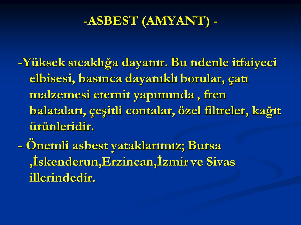 -ASBEST (AMYANT) -
