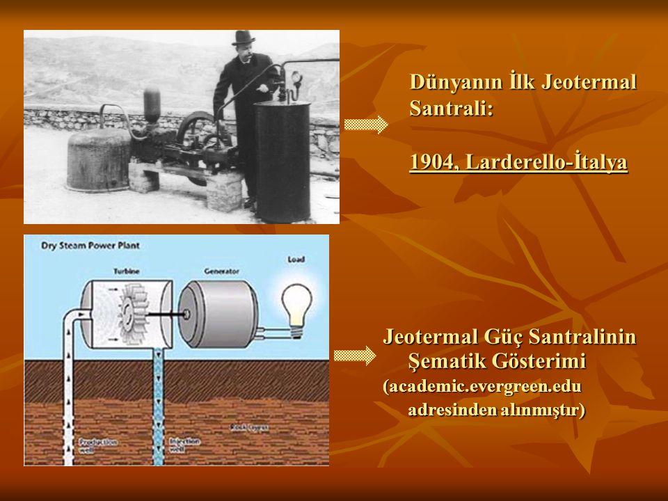 Dünyanın İlk Jeotermal Santrali: 1904, Larderello-İtalya