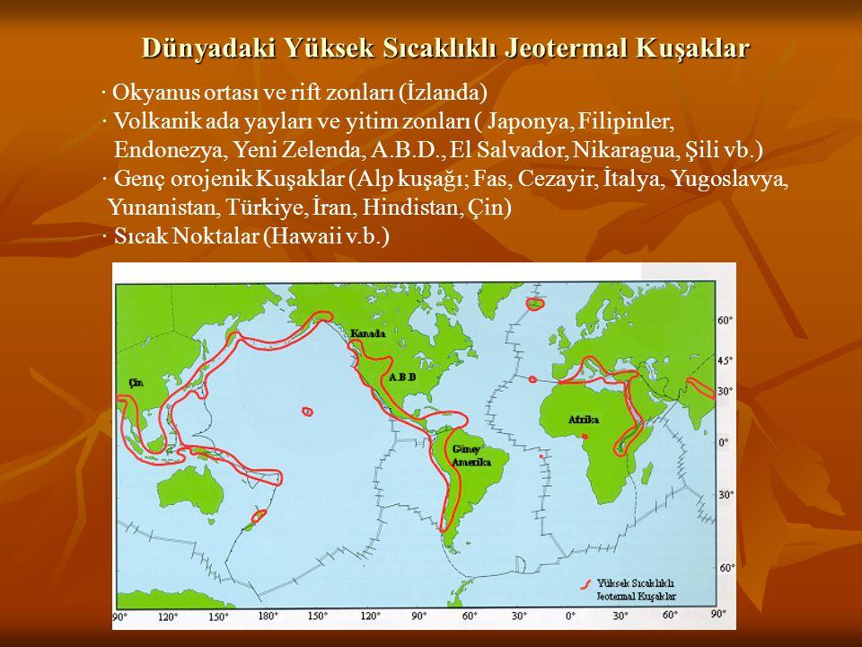 Dünyadaki Yüksek Sıcaklıklı Jeotermal Kuşaklar