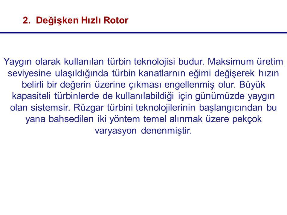 2. Değişken Hızlı Rotor