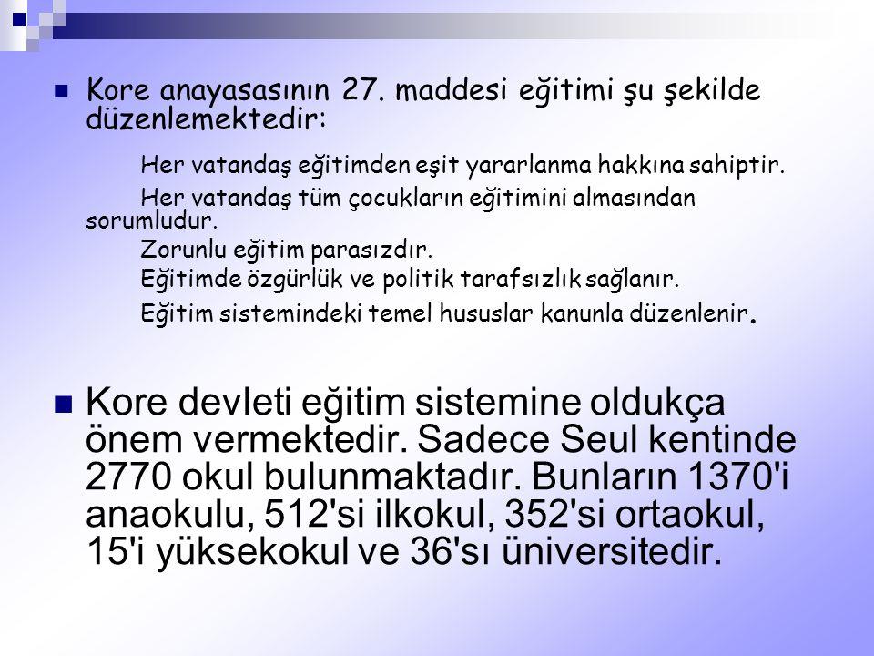 Her vatandaş eğitimden eşit yararlanma hakkına sahiptir.
