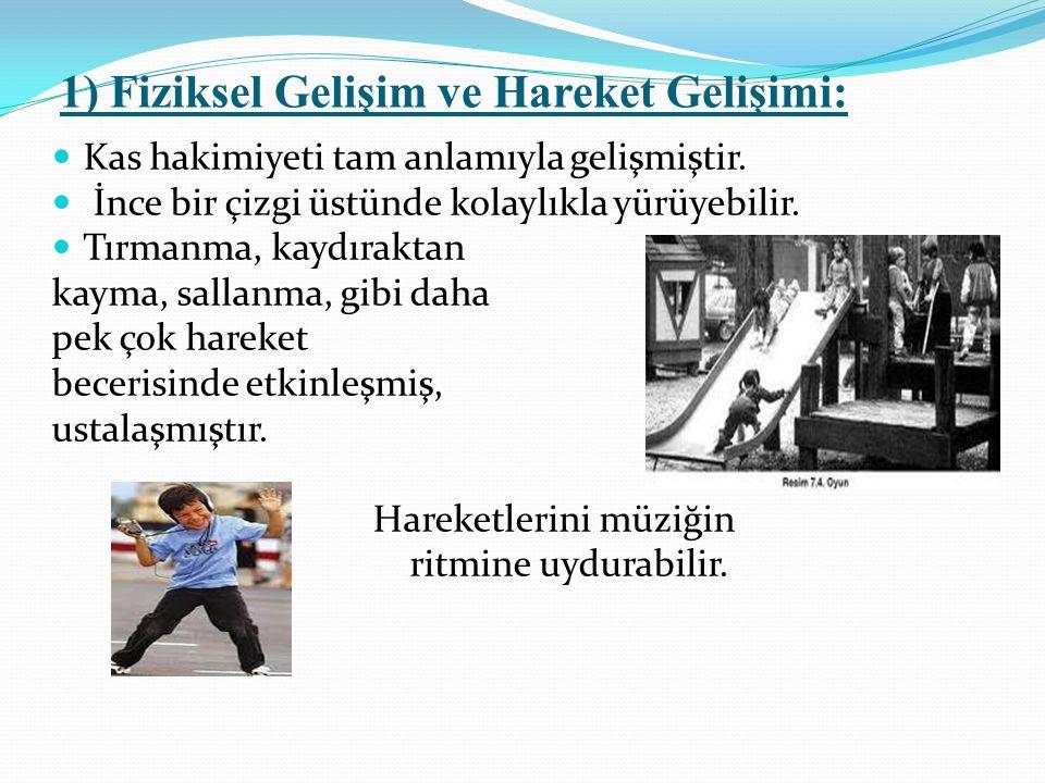 1) Fiziksel Gelişim ve Hareket Gelişimi: