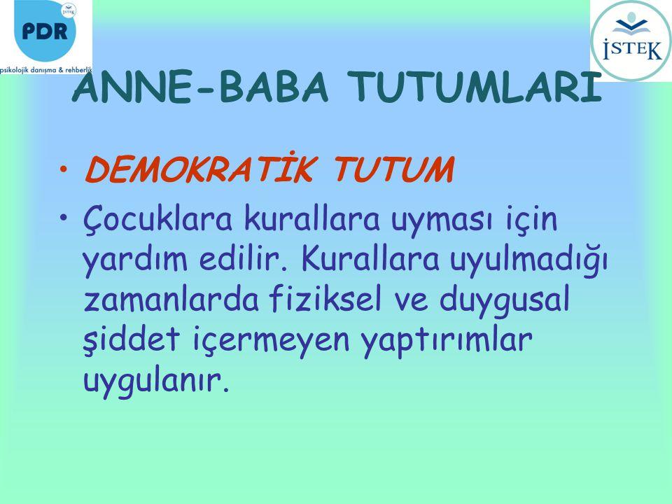 ANNE-BABA TUTUMLARI DEMOKRATİK TUTUM