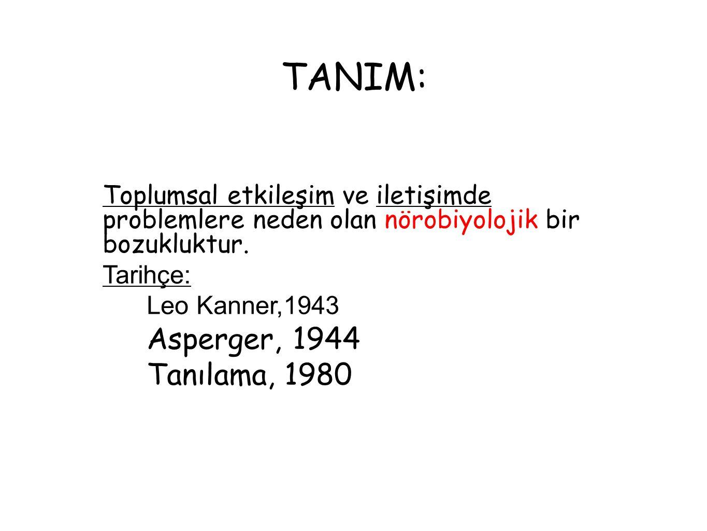 TANIM: Asperger, 1944 Tanılama, 1980
