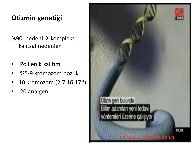 Otizmin genetiği %90 nedeni kompleks kalıtsal nedenler