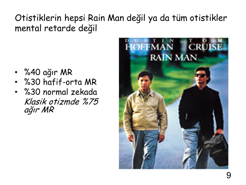 Otistiklerin hepsi Rain Man değil ya da tüm otistikler mental retarde değil