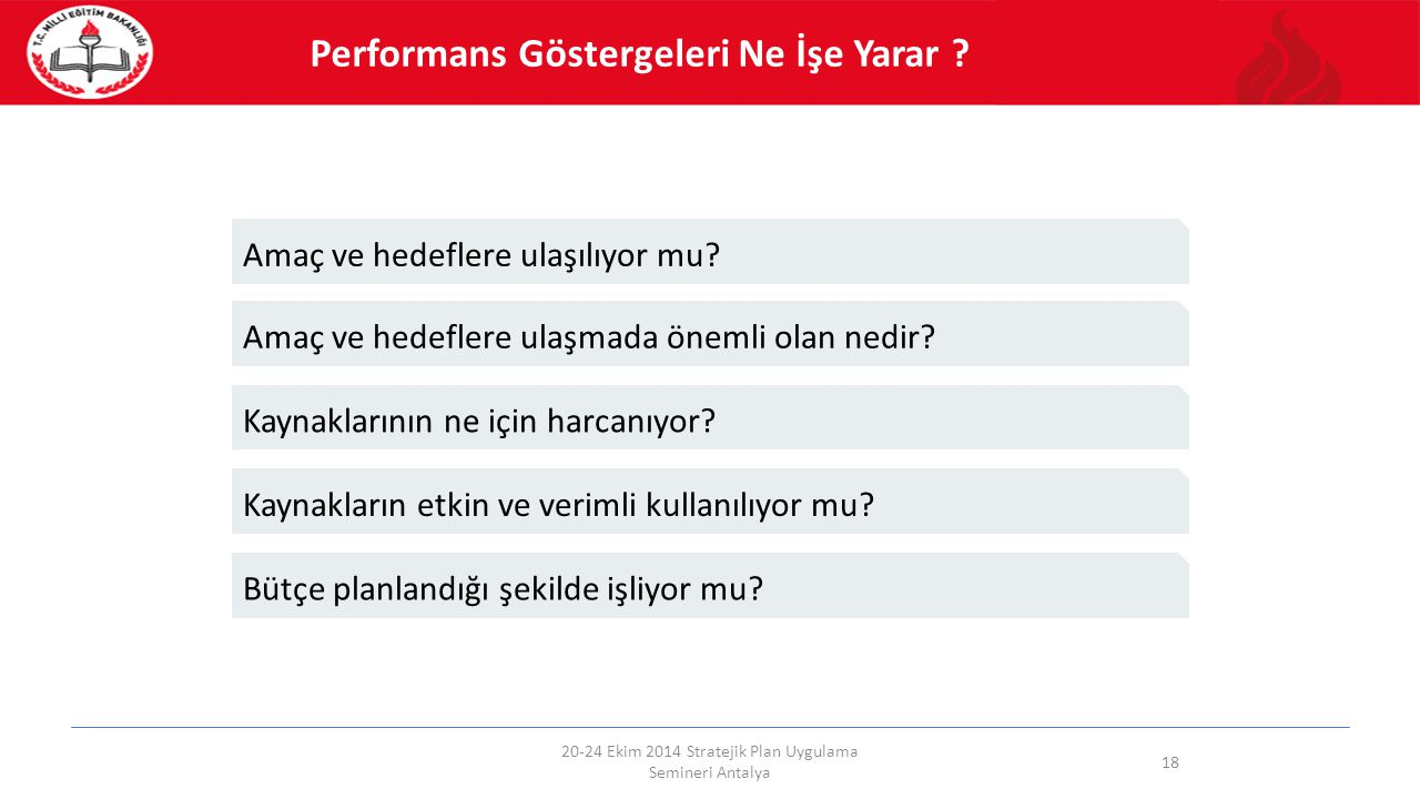 20-24 Ekim 2014 Stratejik Plan Uygulama Semineri Antalya