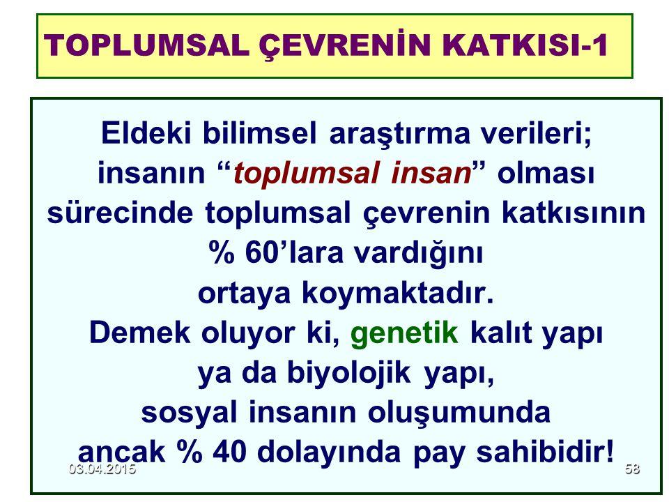 TOPLUMSAL ÇEVRENİN KATKISI-1