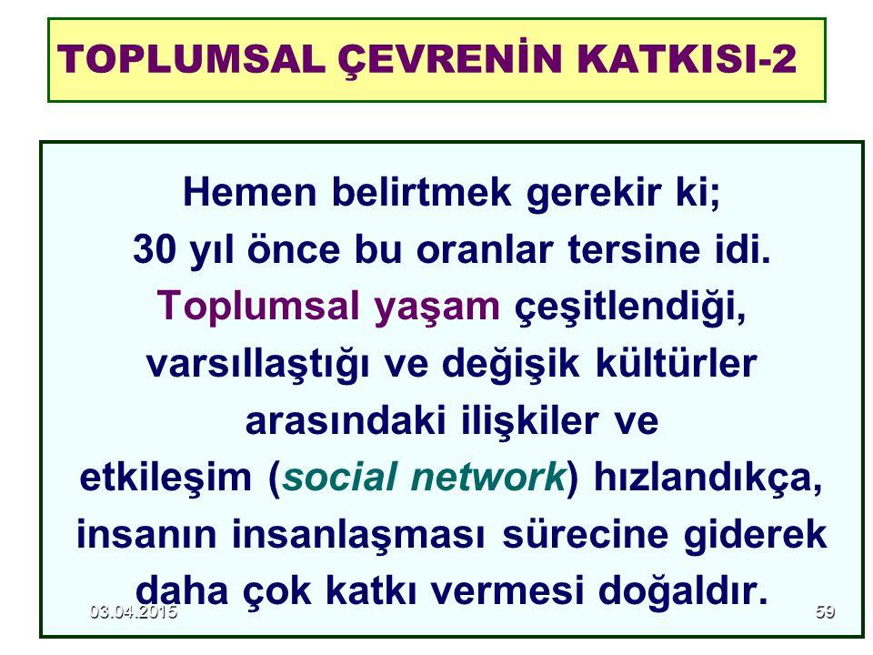 TOPLUMSAL ÇEVRENİN KATKISI-2