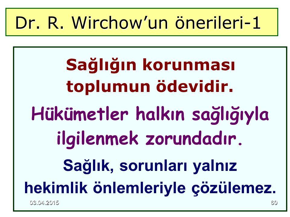 Dr. R. Wirchow'un önerileri-1