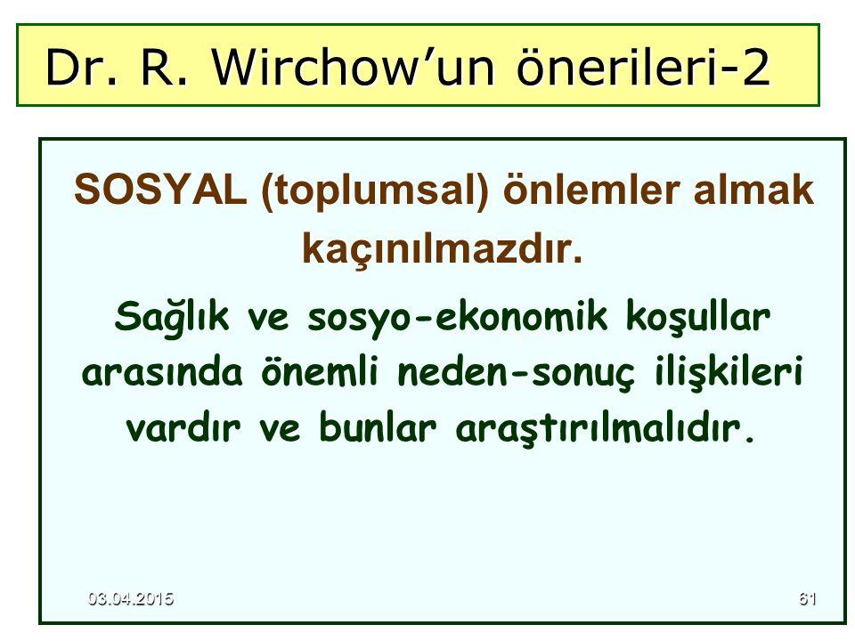 Dr. R. Wirchow'un önerileri-2