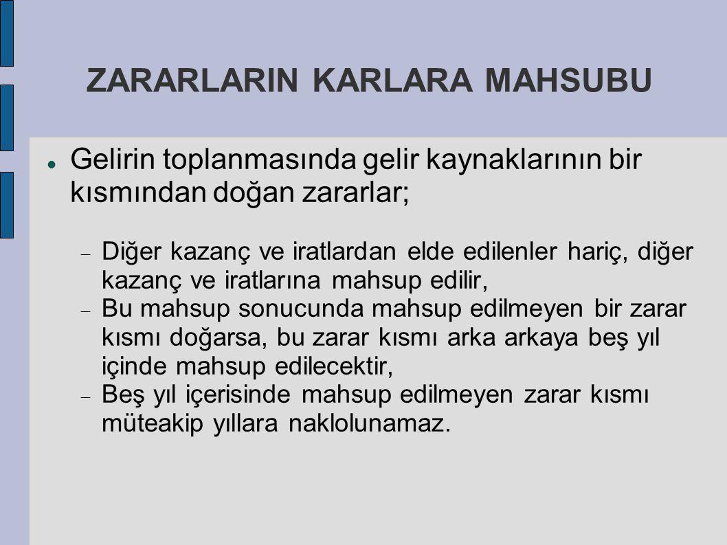ZARARLARIN KARLARA MAHSUBU