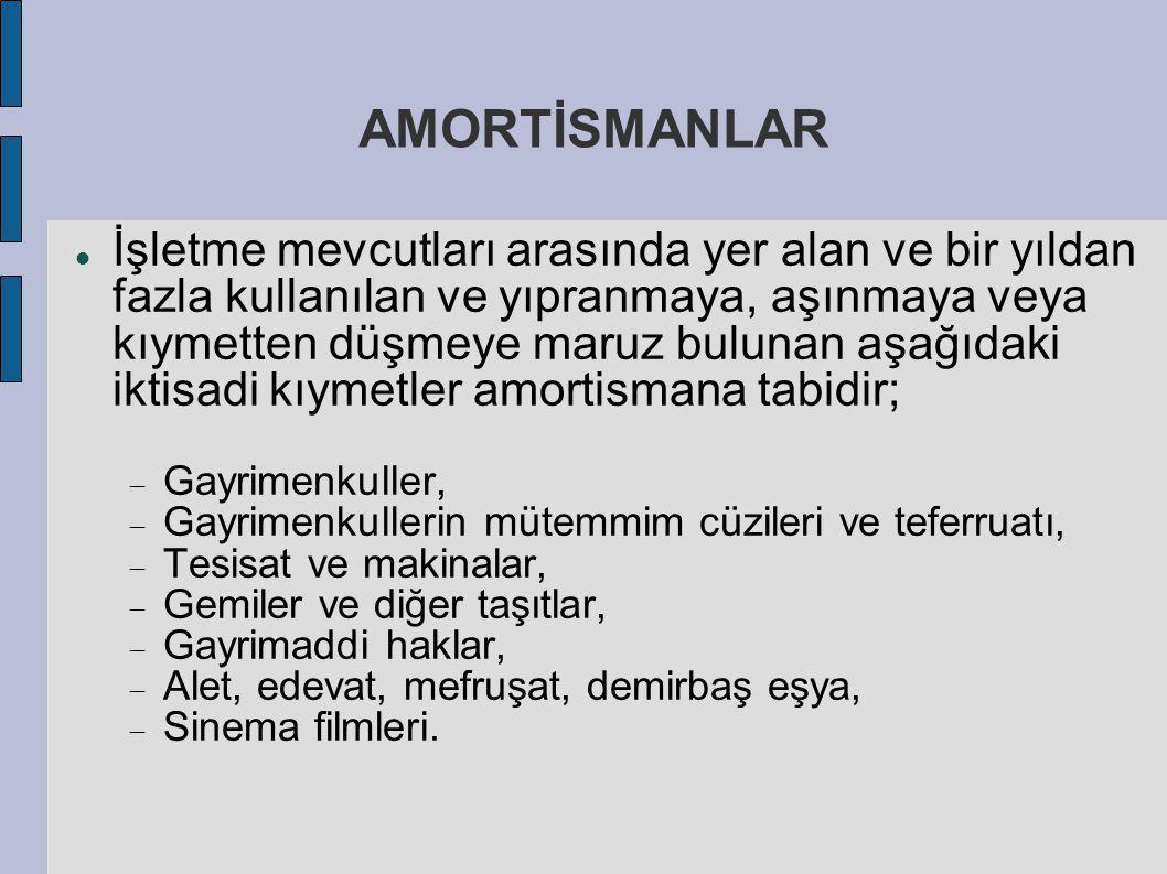 AMORTİSMANLAR